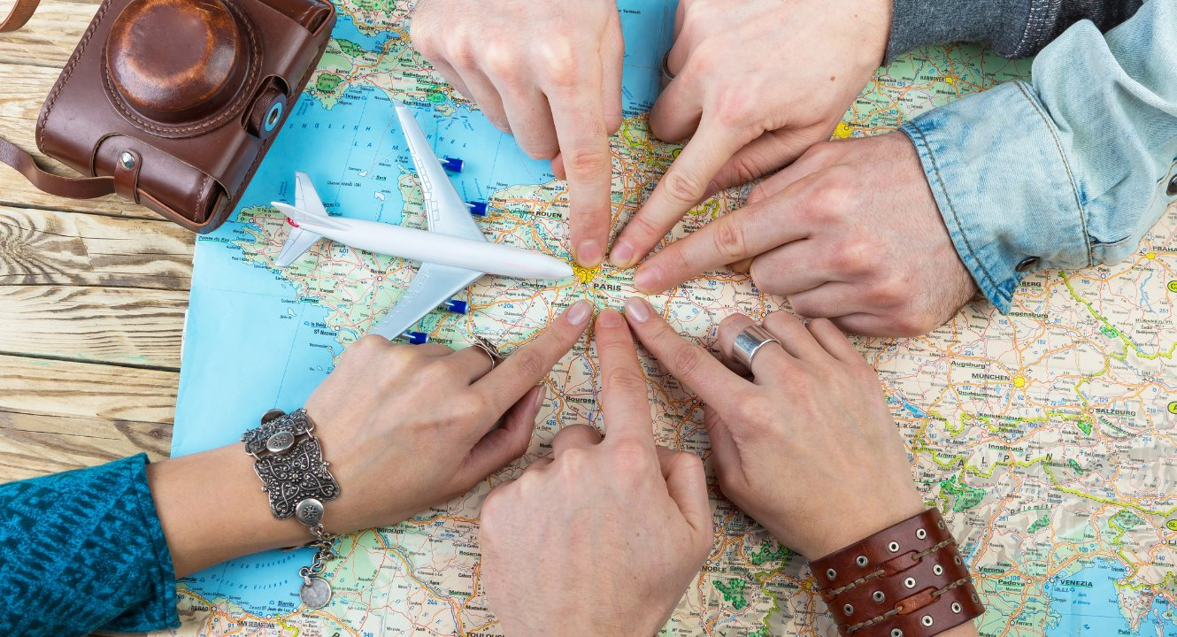 people planning fall vacation - personal loan